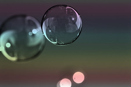 selective focus photo of floating bubble
