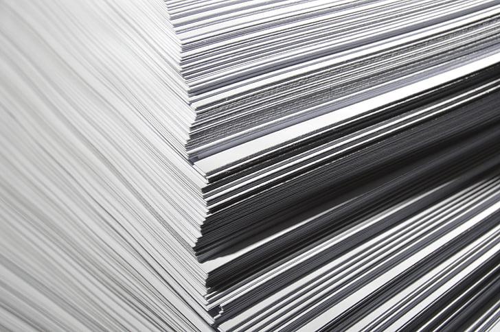 paper, stack, white, studio, lighting, a4