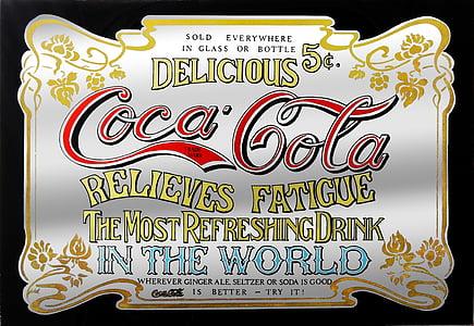 Delicious Coca-Cola Relieves Fatigue poster