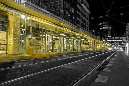 street during night time