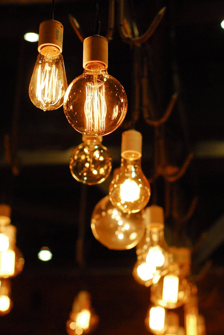 Royalty Free Photo Low Light Photography Of Lighted Lamps