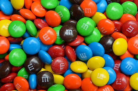 assorted-color M&M's candy lot