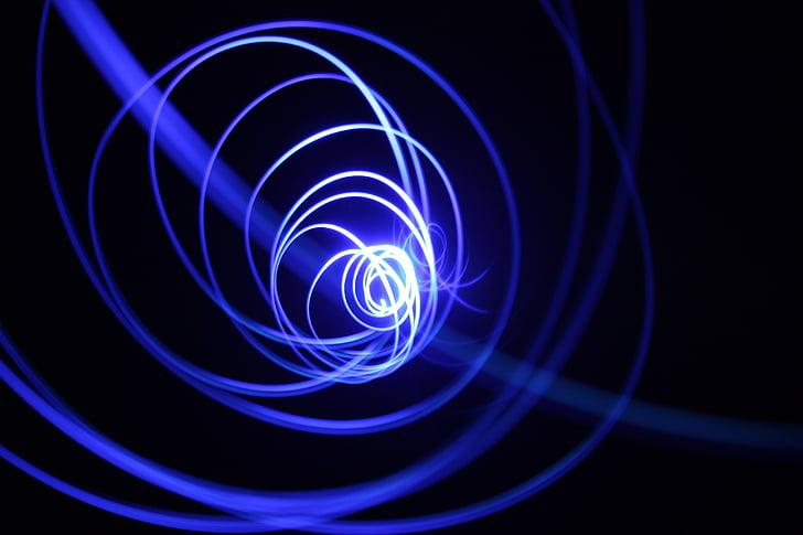 blue spiral light illustration
