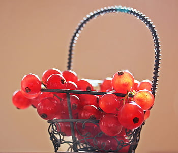 red berries in the basket