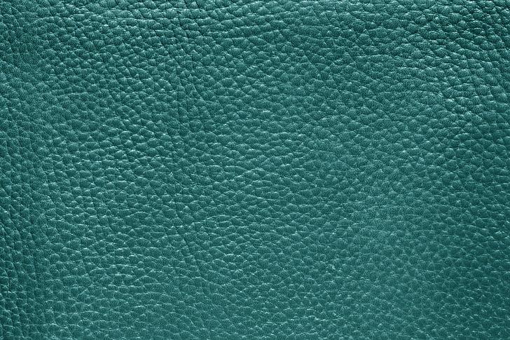 blue leather textile