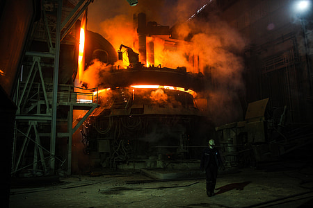 turned-on black industrial machine