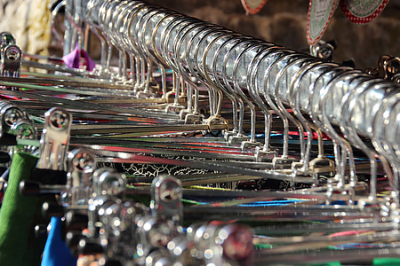 silver clothes hangers