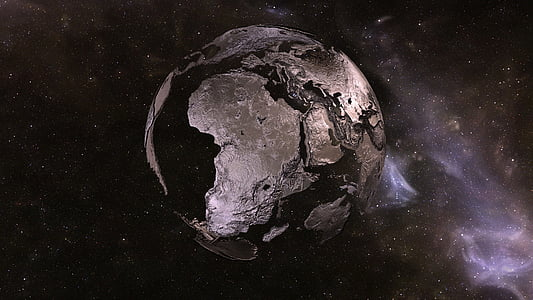 silver planet painting