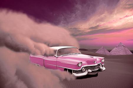pink Chevrolet Bel Air