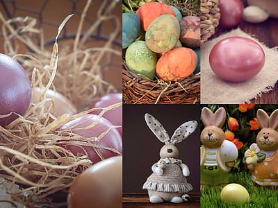 photo of Easter egg and bunny collage