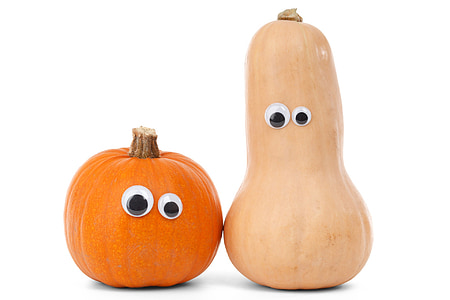 two squash and gourd toys