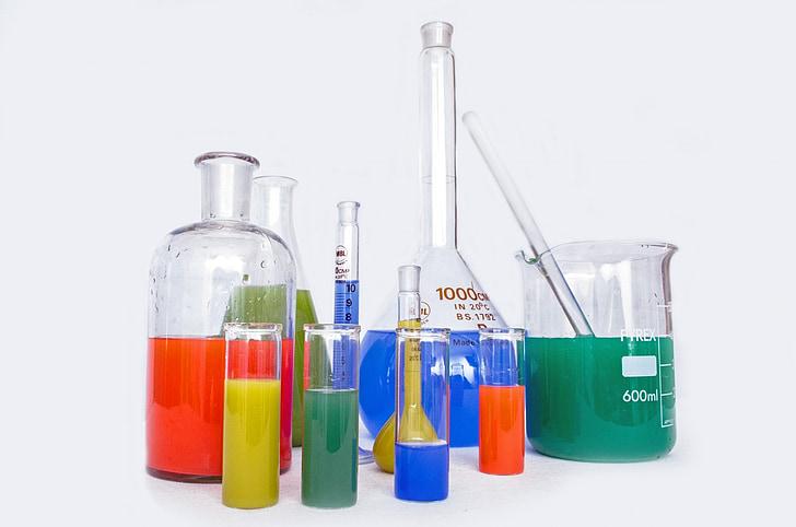 Royalty-Free photo: Chemistry tubes in laboratory   PickPik