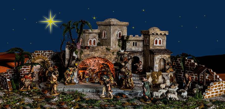 ceramic Nativity decor