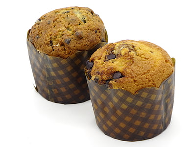 two chocolate chip cupcakes