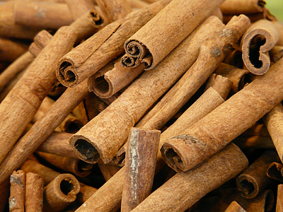 cinnamon, cinnamon sticks, dried, spice, bark, brown