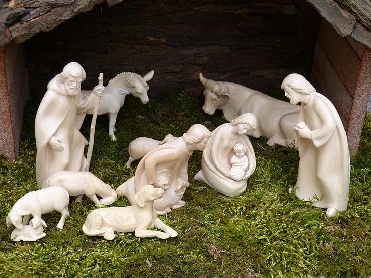The Nativity statue set