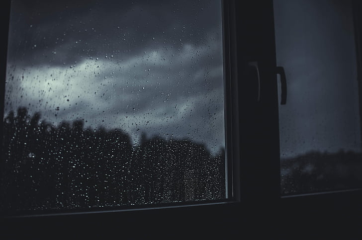 closeup photo of window closed