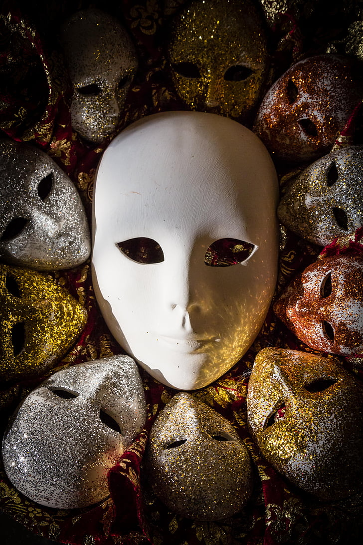 white emotion mask