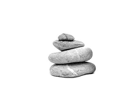 gray balancing stones