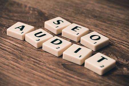 Seo Audit scrabble blocks