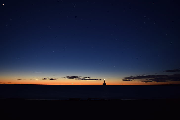 horizon during dusk