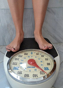 bathroom scale at 50 Kilos