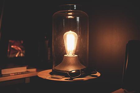 turn-on light on table