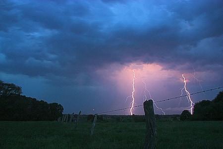 lightning struck at distance