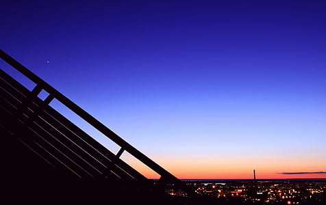 silhouette photograph of cityscape