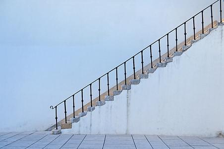 photo of white stair