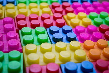assorted-color interlocking brick toy lot