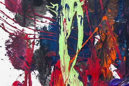 landscape photography of abstract painting