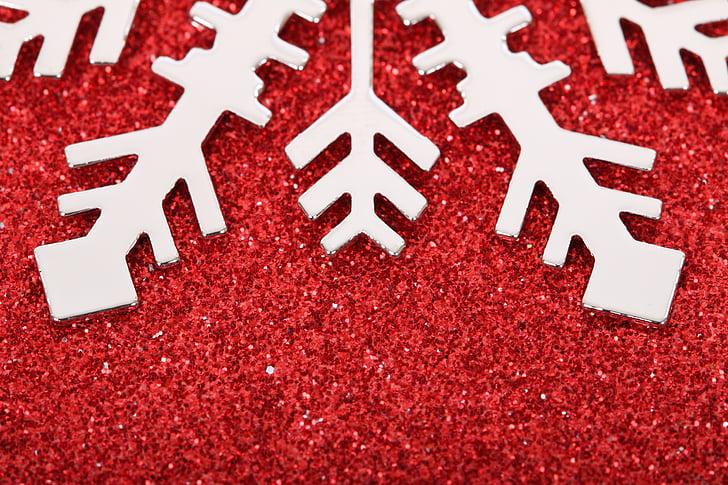 white snowflake decor