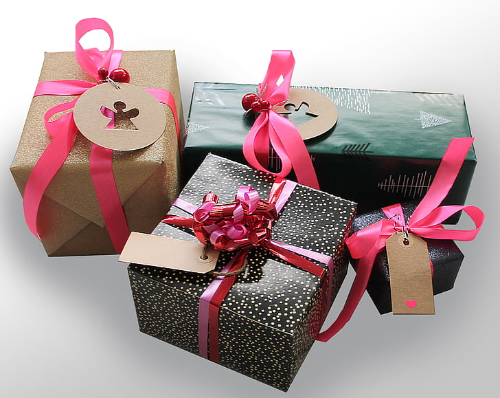 assorted gift boxes