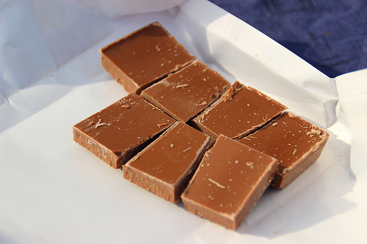 seven pieces of chocolate bar