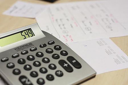 gray calculator showing 5.49