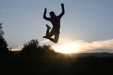 time lapse photography of person jumping