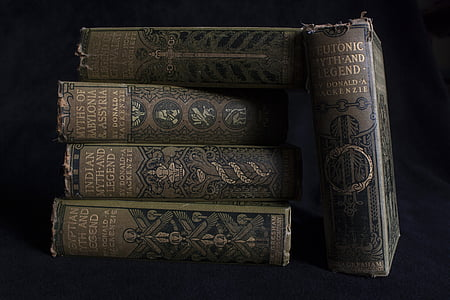 five assorted-title books