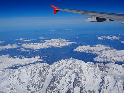 bird's eye view photography of snow covered mountain