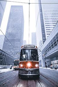 landscape photo of transportation bus