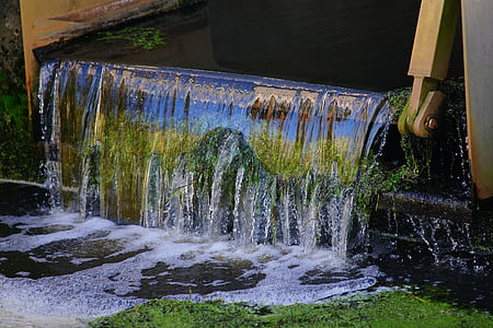 time lapse photography of water flowing