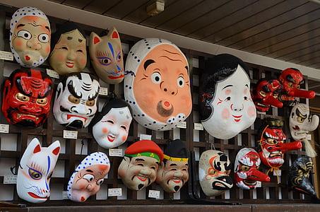 assorted-color monster mask lot
