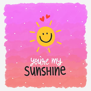 you're my sunshine illustration