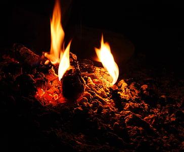 closeup photo of flame