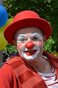 man in a clown face paint