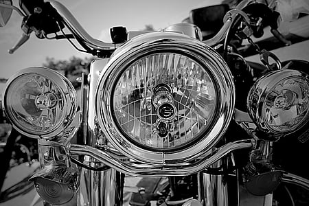 grayscale photography of cruiser motorcycle