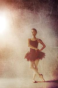 female ballet dancer illustration