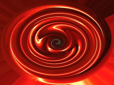 red swirling liquid