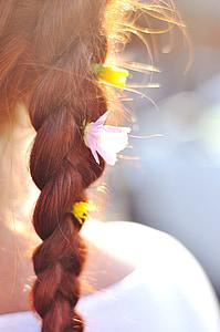 woman braided hair