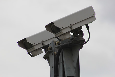 security cameras on post